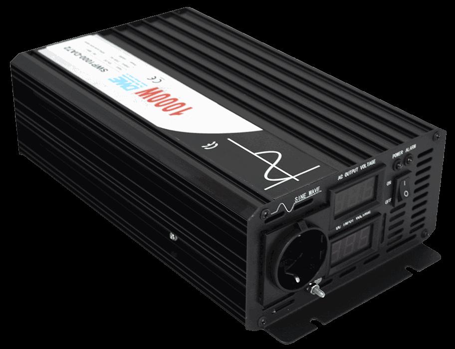 omvormer 36V naar 230V zuivere sinus 1000W , voorzijde
