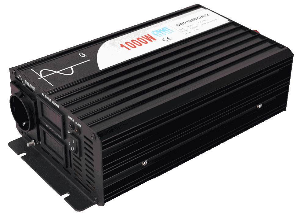 12v 24v 36v 48v 60v 72v 96v 110v naar 230v AC omvormer inverter 1000W zuivere sinus back-right