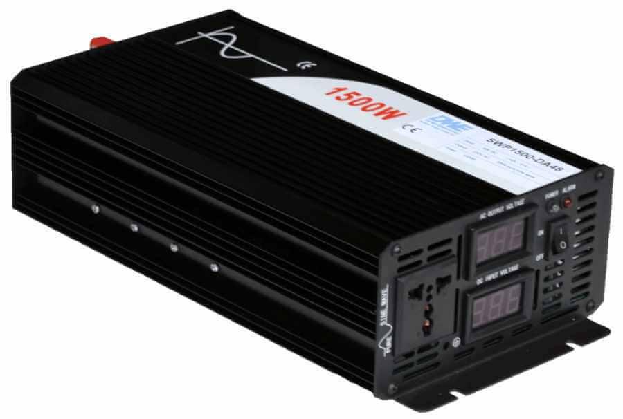 omvormer 60V naar 230V zuivere sinus 1500W , voorzijde