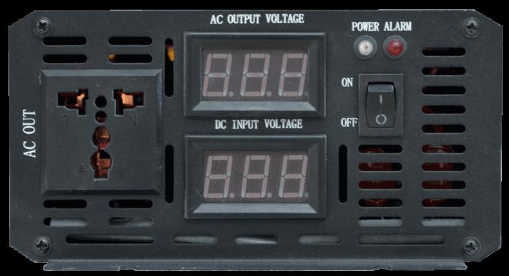 12v 24v 36v 48v 60v 72v 96v 110v naar 230v AC omvormer inverter front