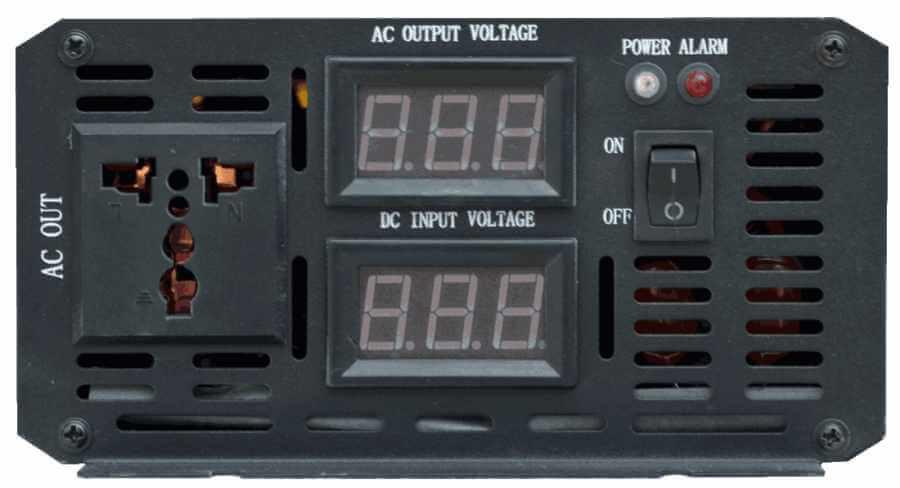 24V naar 230V omvormer 300W , aansluitingen