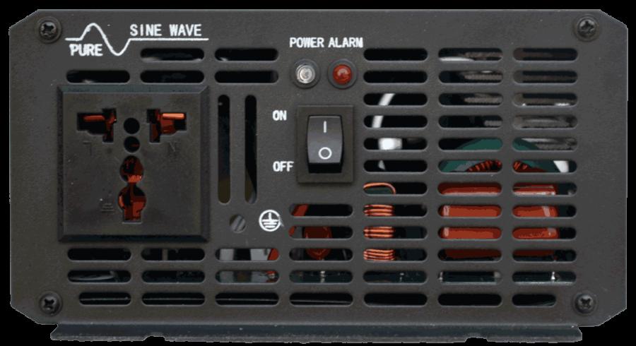 12V naar 230V omvormer 500W , aansluitingen