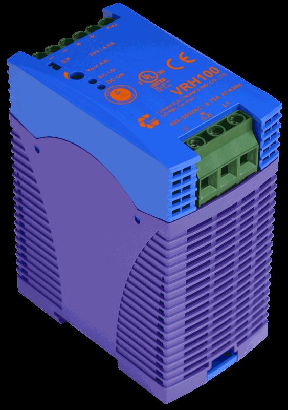 800V naar 48V DC/DC converter 100W, 2,1A, DIN-rail, type VRH100