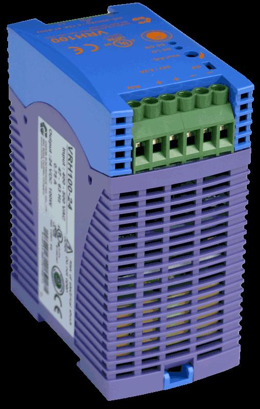 48V DC/DC converter 100W, 2,1A, DIN-rail, type VRH100