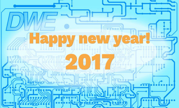 happy new year electronic pcb